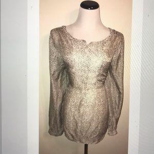 Ann Taylor Loft long sleeve henley blouse